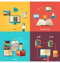Books Decorative Icon Set vector image