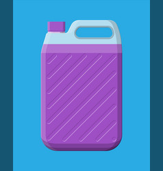 bottle with liquid detergent canister cleaner vector image