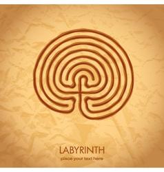 Celtic labyrinth vector