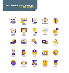Modern material flat design icons - e-commerce vector