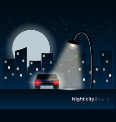 night city concept vector image