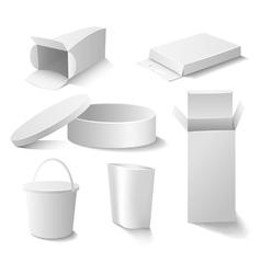 White boxes set vector image