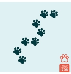 Cat paw icon isolated vector