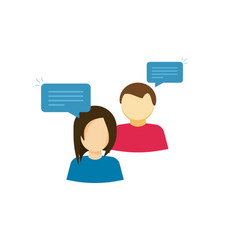 Couple talking icon two person talk with vector
