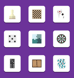 flat icon games set of arrow chess table pawn vector image vector image