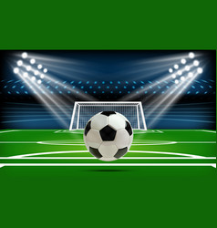 football or soccer playing field with ball sport vector image vector image