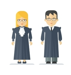 profession judge man and woman vector image vector image