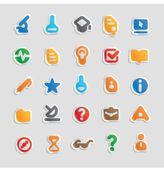 Sticker icons for science vector image