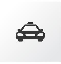 Taxi icon symbol premium quality isolated car vector