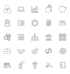 business and finance icon vector image