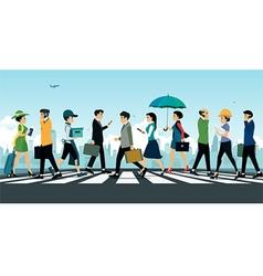 Businessman walking vector image vector image