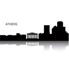 cityscape of athens vector image vector image