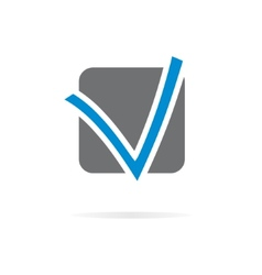 Logo V letter for company design template vector image