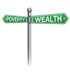 Poverty Versus Wealth Concept vector image vector image