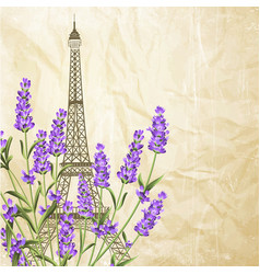 souvenir card with eiffel tower vector image