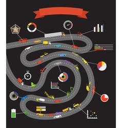 Transportation scheme with infographoc elements vector image vector image