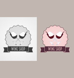 wine shop and wine list monochrome an vector image vector image