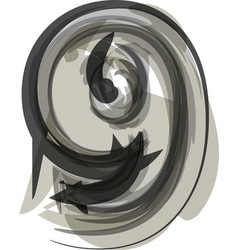 Abstract number 9 vector