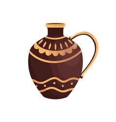 ancient greek ceramic jar decorated hellenic vector image