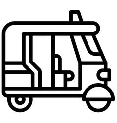 Auto rickshaw icon transportation related vector
