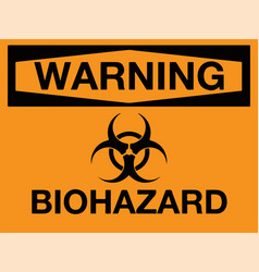 biohazard icon warning biohazard symbol vector image