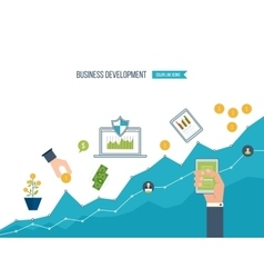 Business development Finance report and strategy vector image