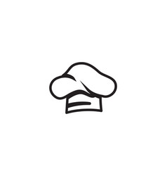 chef hat logo and symbols black color icon vector image