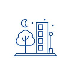 city line icon concept city flat symbol vector image