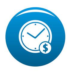 clock money icon blue vector image