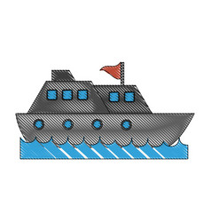 cruise ship water icon image vector image