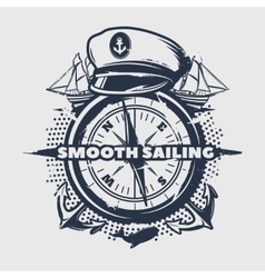 Dark Nautical Print vector