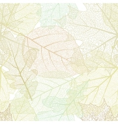 detailed leaves seamless background eps 10 vector image