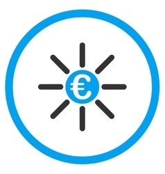Euro Distribution Circled Icon vector