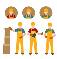 Factory people in uniform vector image