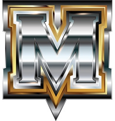 Fancy font Letter M vector image