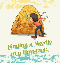 Finding a needle in a haystack vector