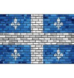 Flag quebec on a brick wall vector