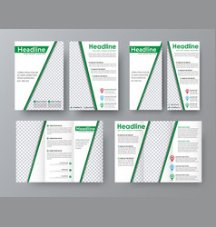 flyer a4 template a folding brochure and a narrow vector image