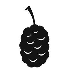 Fruit of mulberry icon simple style vector