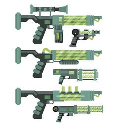 Futuristic sci-fi weapons vector