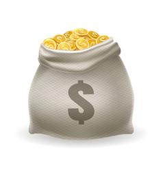 Gold money sack vector