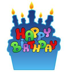 Happy birthday theme 3 vector