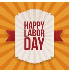 Happy Labor Day big white Banner vector image