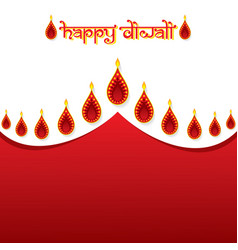 Indian festival diwali greeting design vector