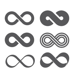 Infinity sign mobius strip vector