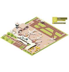 Isometric airport terminal vector