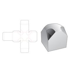 Kawaii folding box die cut template vector