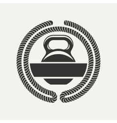 kettlebell logo vector image