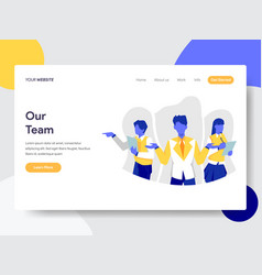 landing page template our team concept flat vector image