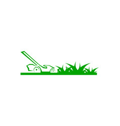 lawn care logo design template vector image